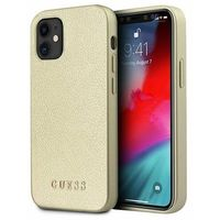 "Guess GUHCP12SIGLGO iPhone 12 mini 5,4"" złoty/gold hardcase Iridescent"